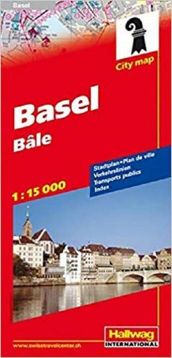 Couverture du livre « **basel/bale 1/15 000 » de  aux éditions Hallwag