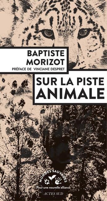 Couverture du livre « Sur la piste animale » de Baptiste Morizot aux éditions Actes Sud