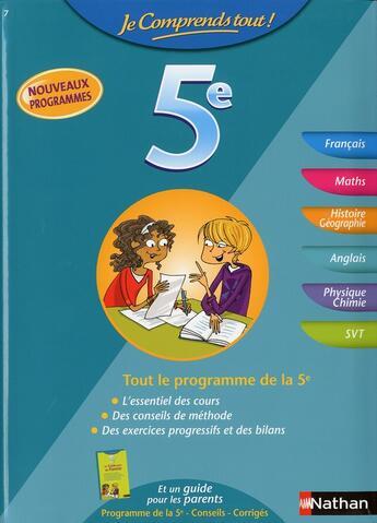 Couverture du livre « 5e tout en un » de Veronique Heras aux éditions Nathan