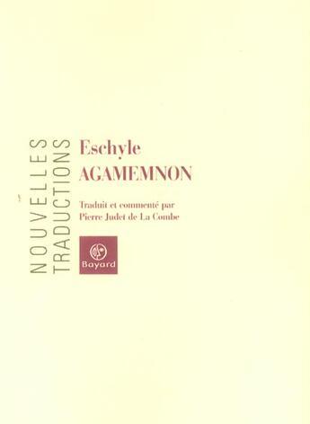 Couverture du livre « Agamemnon » de Collectif aux éditions Bayard