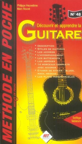 Couverture du livre « Méthode de guitare n.48 » de Collectif aux éditions Hit Diffusion
