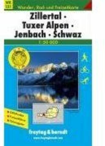 Couverture du livre « **Zillertal-Tuxer Alpen-Jenbach » de Collectif aux éditions Freytag Und Berndt
