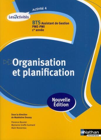 Couverture du livre « Act 4 Organis Planificat Bts » de Madeleine Doussy aux éditions Nathan