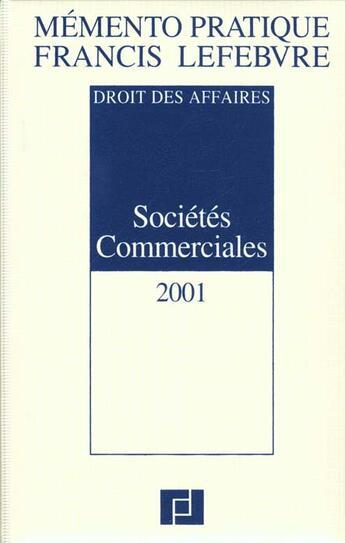 Couverture du livre « Memento ; societes commerciales » de Collectif aux éditions Lefebvre