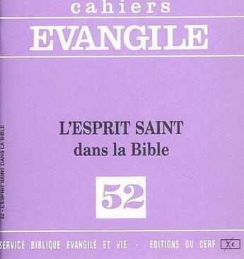 Couverture du livre « CAHIERS DE L'EVANGILE T.52 » de Carrez M aux éditions Cerf