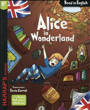 Couverture du livre « Alice in wonderland » de Lewis Carroll aux éditions Harrap's