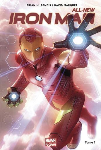 Couverture du livre « All-new Iron Man T.1 » de David Marquez et Brian Michael Bendis aux éditions Panini