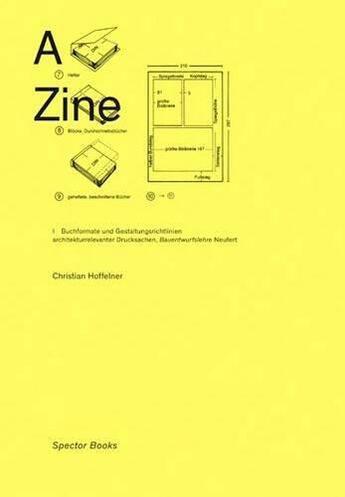 Couverture du livre « A zine » de Hoffelner Christian aux éditions Spector Books