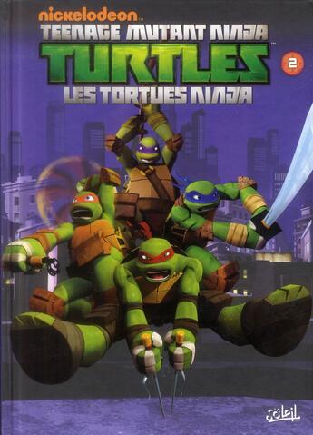 Couverture du livre « Teenage Mutant Ninja Turtles ; les Tortues Ninja T.2 ; la menace des Kraang » de Justin Eisinger et Joshua Sternin aux éditions Soleil
