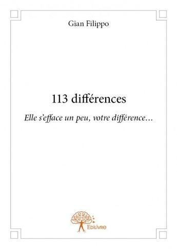 Couverture du livre « 113 différences » de Gian Filippo aux éditions Edilivre-aparis