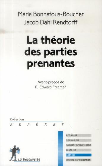 Couverture du livre « La théorie des parties prenantes » de Maria Bonnafous-Boucher aux éditions La Decouverte