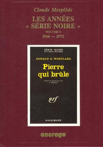 Couverture du livre « Annees Serie Noire/3- » de Claude Mesplede aux éditions Encrage