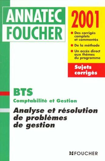 Couverture du livre « Analyse Et Resolution De Problemes De Gestion » de Saidj et Igman et Picouly aux éditions Foucher