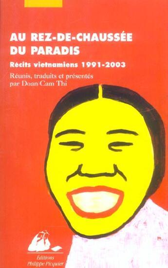 Couverture du livre « Au Rez-De-Chaussee Du Paradis » de Collectif aux éditions Picquier