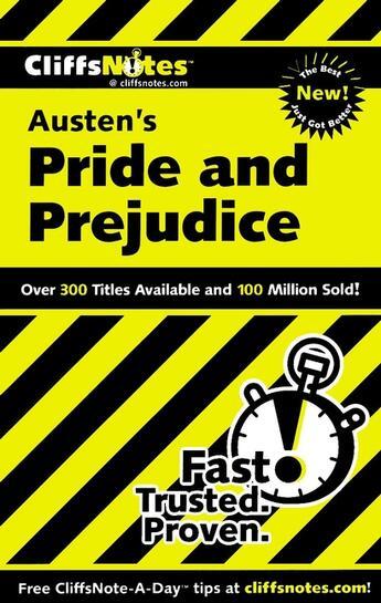 Couverture du livre « CliffsNotes on Austen's Pride and Prejudice » de Kalil Marie aux éditions Houghton Mifflin Harcourt