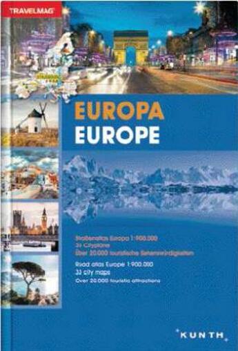 Couverture du livre « Atlas Europe » de Collectif aux éditions Kunth