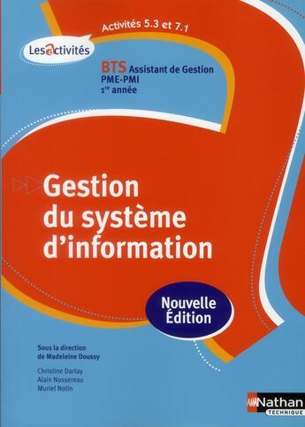 Couverture du livre « Act 5.3/7.1 gest syst info bts » de Collectif aux éditions Nathan