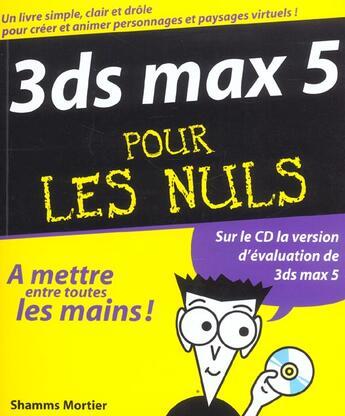 Couverture du livre « 3d Max 5 » de Shamms Mortier aux éditions First Interactive