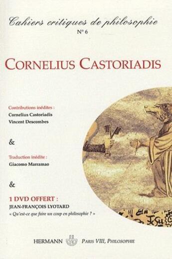 Couverture du livre « Cahiers critiques de poésie N.6 » de Collectif aux éditions Hermann