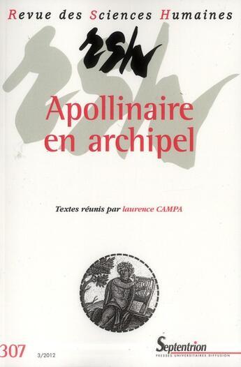 Couverture du livre « Revue Des Sciences Humaines, N 307/Juillet - Septembre 2012 » de Campa aux éditions Pu Du Septentrion
