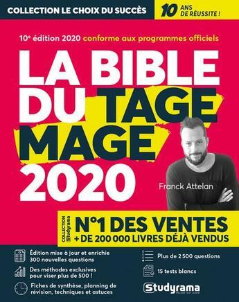 Couverture du livre « La bible du tage mage 2020 » de Franck Attelan aux éditions Studyrama