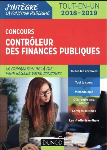 Couverture du livre « Concours contrôleur des finances publiques ; tout-en-un (édition 2018/2019) » de Pierre Beck aux éditions Dunod