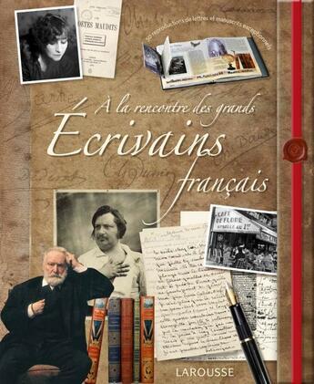 Couverture du livre « À la rencontre des grands écrivains français » de Jerome Picon aux éditions Larousse
