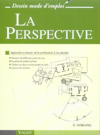 Couverture du livre « La perspective » de Ernest Norling aux éditions Vigot