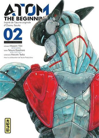 Couverture du livre « Atom ; the beginning T.2 » de Tetsuroh Kasahara et Masami Yuki aux éditions Kana