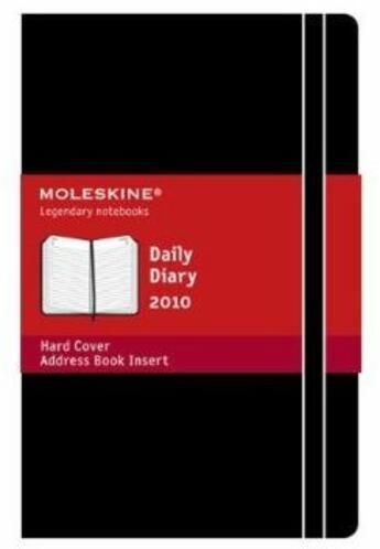 Couverture du livre « Agenda journalier 2010 » de Moleskine aux éditions Moleskine