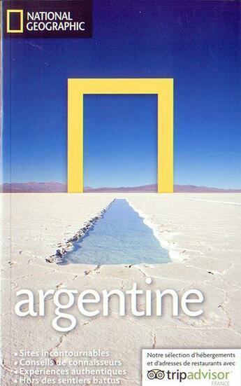 Couverture du livre « Argentine » de W. Bernhardson aux éditions National Geographic