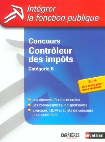 Couverture du livre « Concours controleur des impots categorie b n07 2004 (édition 2004) » de Bonnet-Pineau/Munier aux éditions Nathan