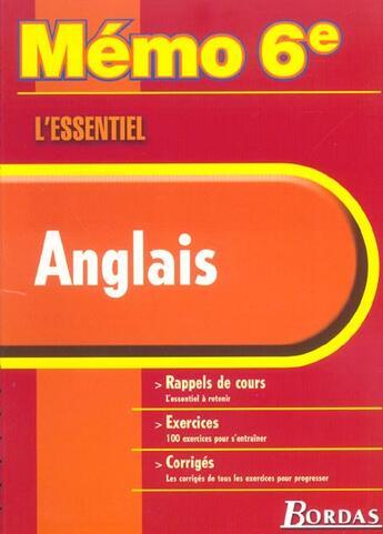 Couverture du livre « Anglais 6e » de Collectif aux éditions Bordas