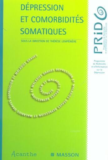 Couverture du livre « Depres Cormorbidites Sormatiq » de Lemperiere aux éditions Elsevier-masson