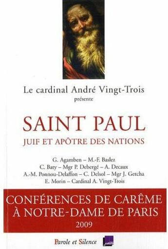 Couverture du livre « Conférences de Carême de Paris » de Mgr Vingt Trois aux éditions Parole Et Silence