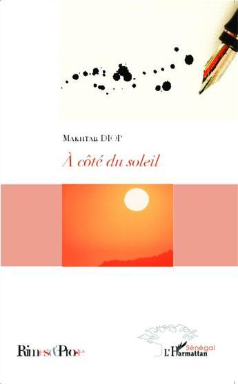 Couverture du livre « À côté du soleil » de Diop Makhtar aux éditions L'harmattan