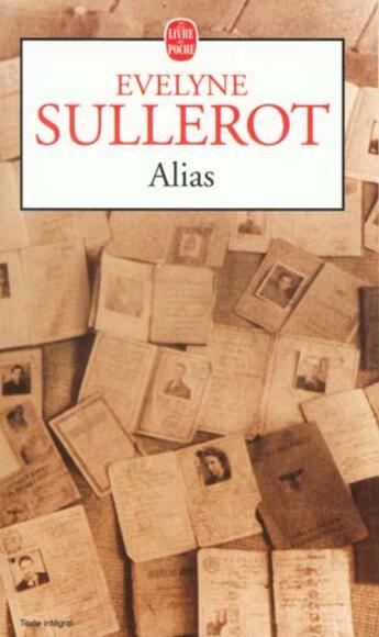 Couverture du livre « Alias » de Sullerot-E aux éditions Lgf
