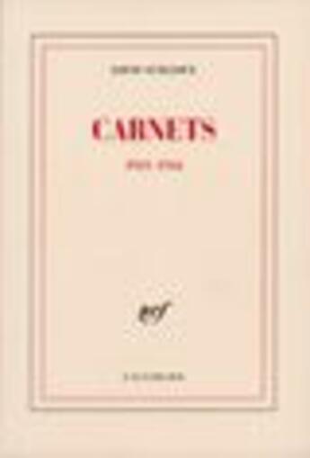 Couverture du livre « Carnets - (1921-1944) » de Louis Guilloux aux éditions Gallimard