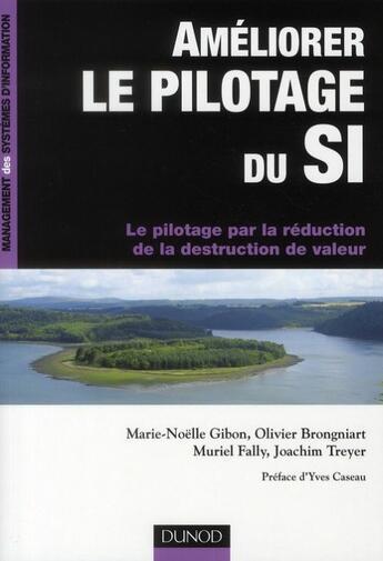 Couverture du livre « Améliorer le pilotage du SI ; le pilotage par la réduction de la destruction de valeur » de Olivier Brongniart et Marie-Noelle Gibon et Muriel Fally et Joachim Treyer aux éditions Dunod