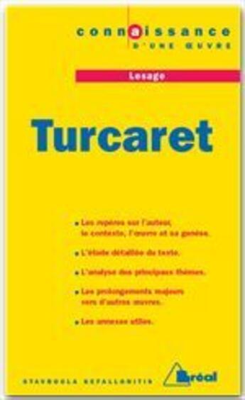 Couverture du livre « Turcaret, de Lesage » de Stavroula Kefallonitis aux éditions Breal