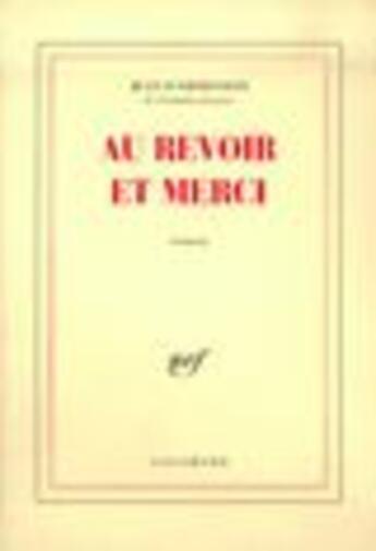 Couverture du livre « Au Revoir Et Merci » de Ormesson J D' aux éditions Gallimard