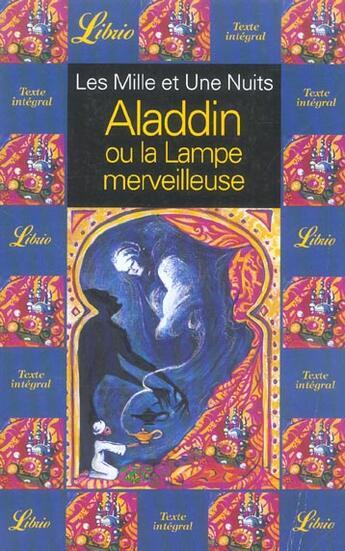 Couverture du livre « Aladdin Ou La Lampe Merveilleuse » de Collectif aux éditions J'ai Lu