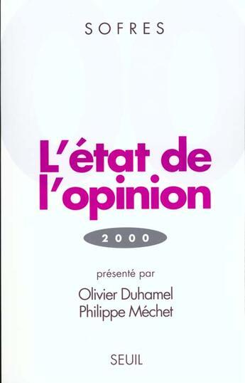 Couverture du livre « Etat De L'Opinion (2000) (L') » de Tns Sofres aux éditions Seuil