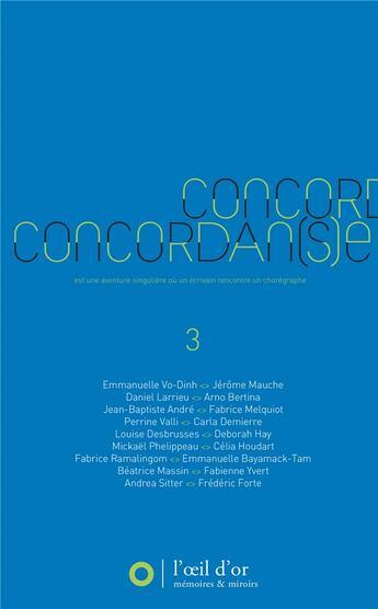 Couverture du livre « Concordan(s)e 3 » de Jean-Francois Munnier aux éditions L'oeil D'or