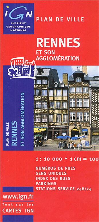 Couverture du livre « *Rennes Plan Avec Livret* » de Collectif Ign aux éditions Ign