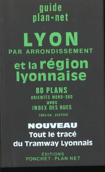 Couverture du livre « Lyon (guide) » de Collectif/Colle aux éditions Ponchet-plan Net