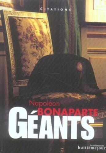 Couverture du livre « Napoléon Bonaparte » de Collectif aux éditions Huitieme Jour