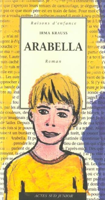 Couverture du livre « Arabella » de Irma Krauss aux éditions Actes Sud