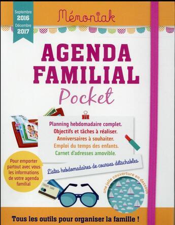 Couverture du livre « Agenda familial Mémoniak pocket 2016-2017 » de Collectif aux éditions Editions 365