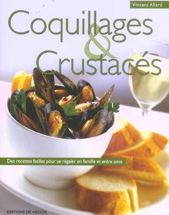 Couverture du livre « Coquillages et crustacés » de Vincent Allard aux éditions De Vecchi